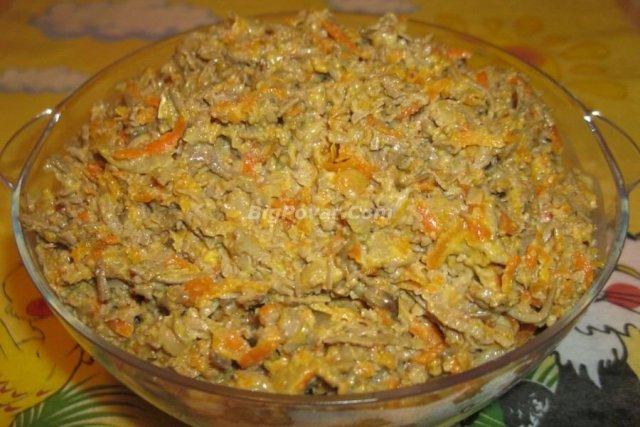 печёночный салат рецепты с фото