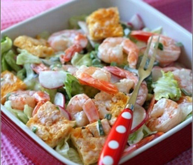 Рецепы салатов с креветкой