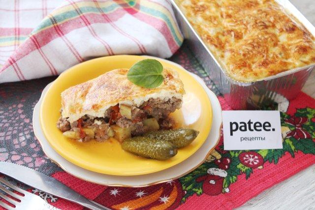 Мусака из свинины и картофеля по-болгарски