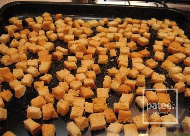 Домашние сухарики в духовке рецепт с фото