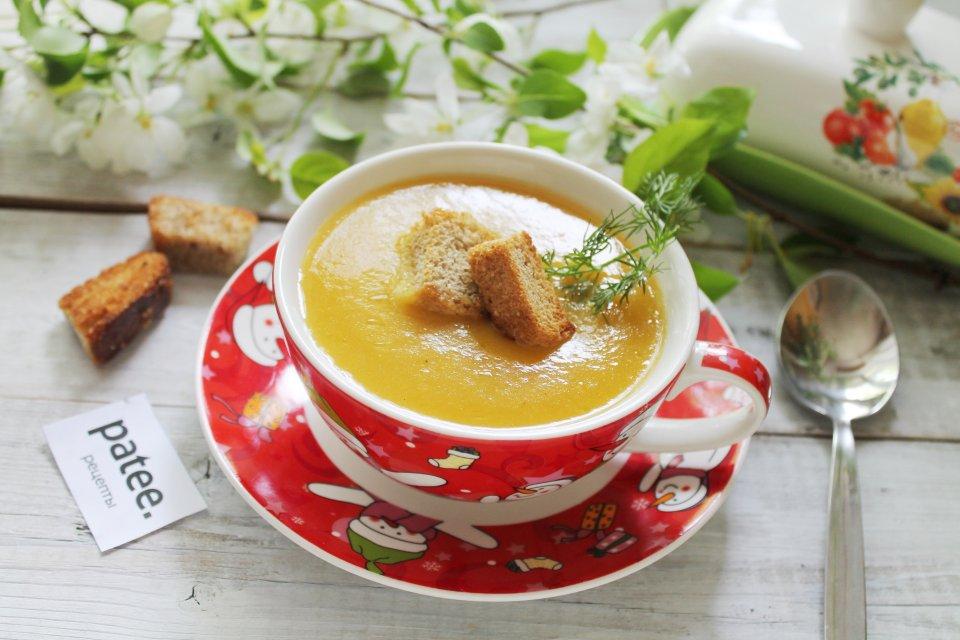 Тыквенный суп-пюре с курицей