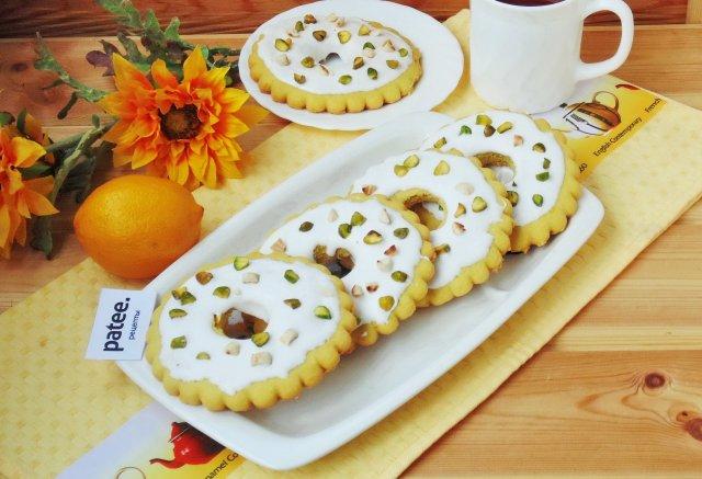 Лимонные кольца с фисташками и арахисом