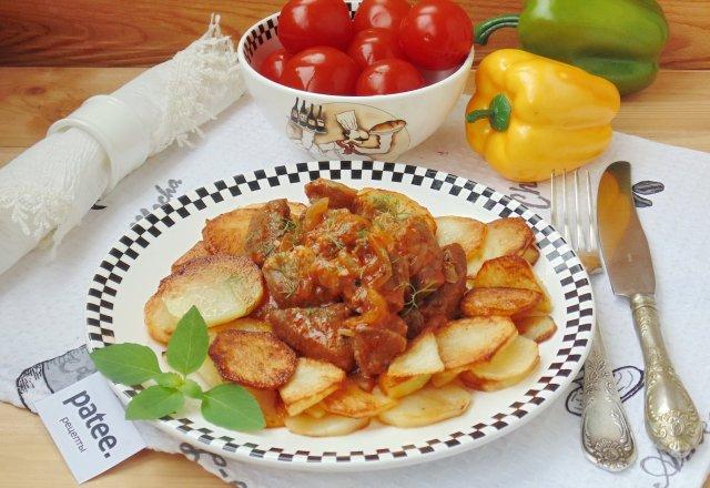 Жаркое из свинины с картофелем в духовке