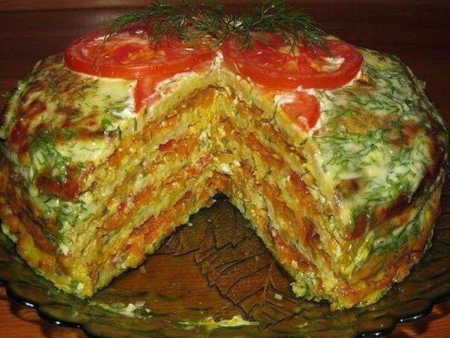 Рецепт торт из кабачка
