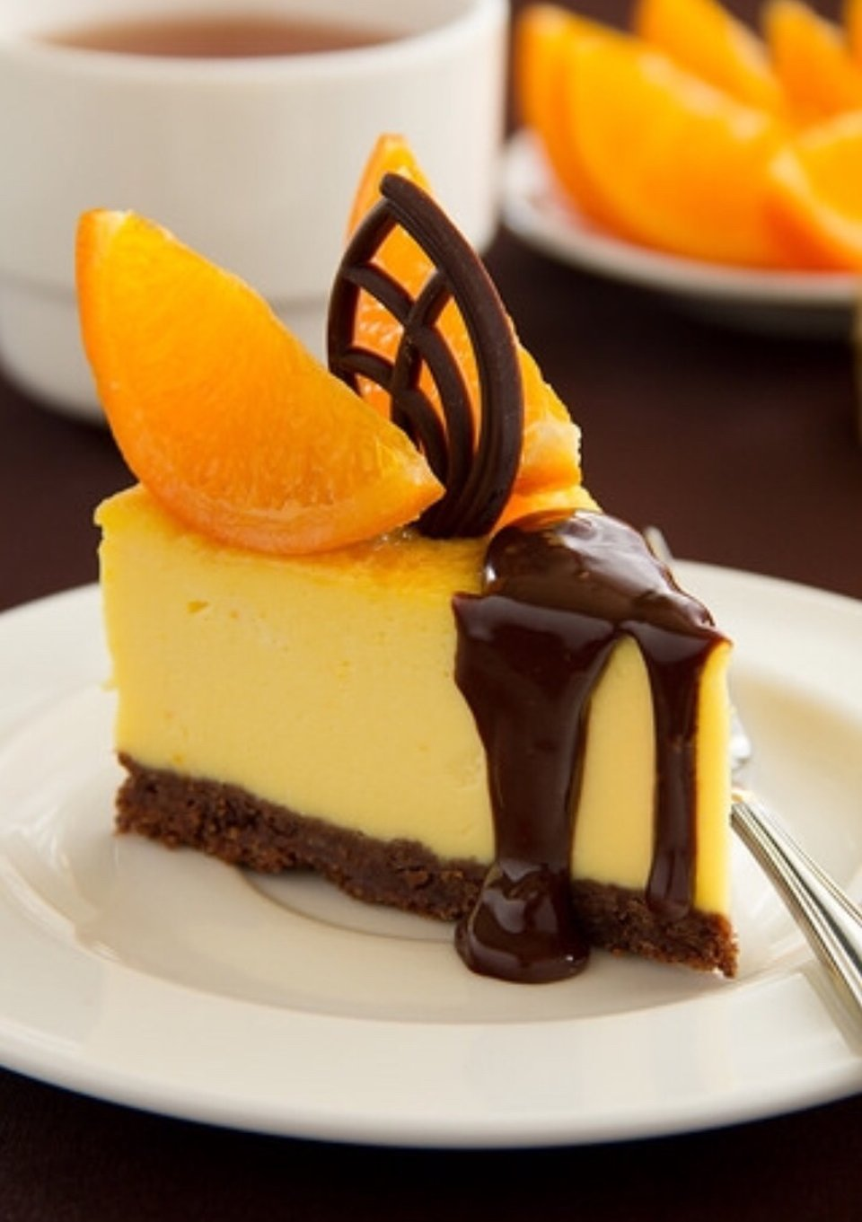 Апельсиновый чизкейк-на радость талии🙃