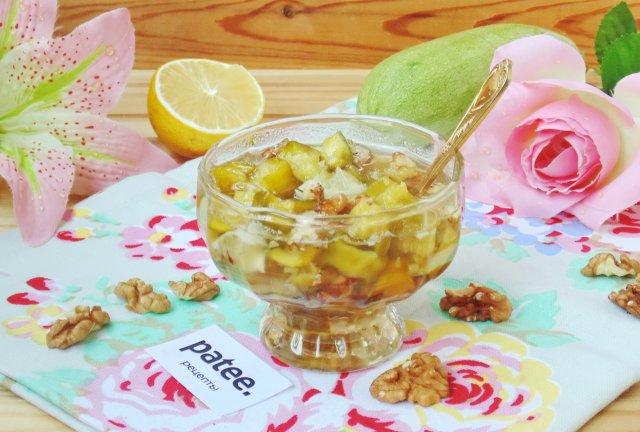 """Варенье из кабачков с лимоном и орехами """"Изумрудное"""""""