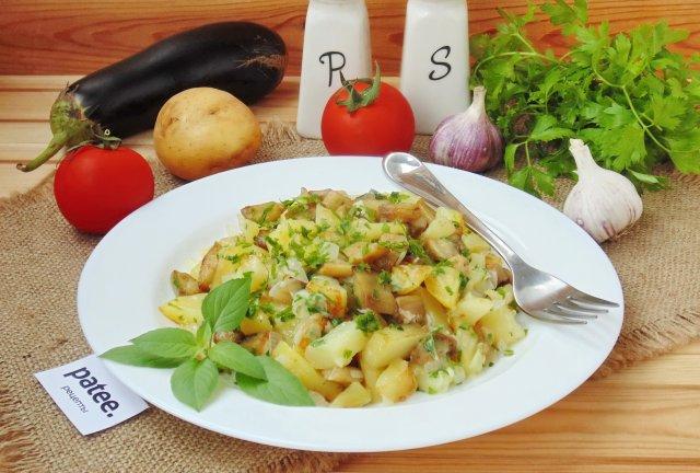 Жареный картофель с иллюзией грибов