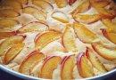 Творожный пирог не без; нектаринами