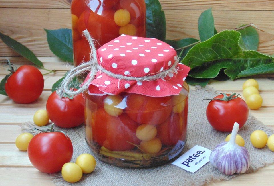 Маринованные помидоры с алычой