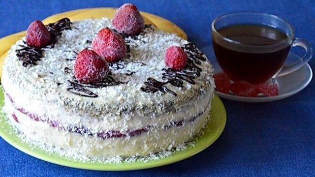 """Торт """"Маково-клубничный поцелуй"""""""