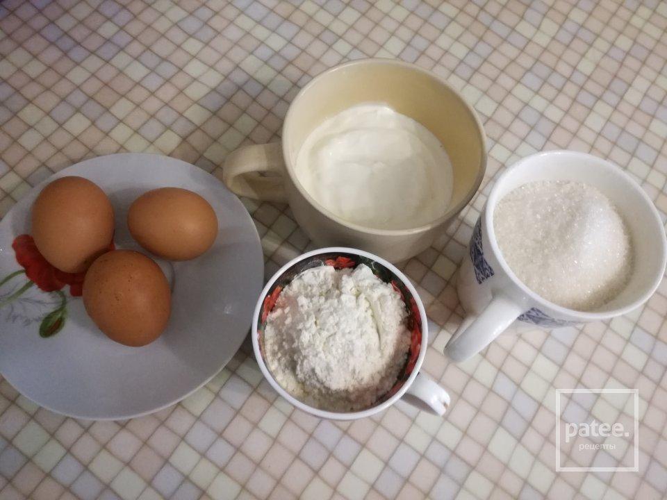 Пирог сметанный с грушами