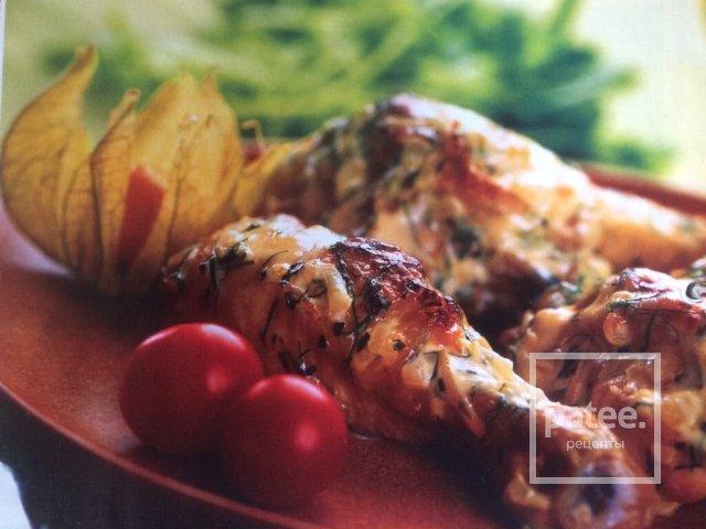 Цыплёнок в сливочном соусе с укропом.