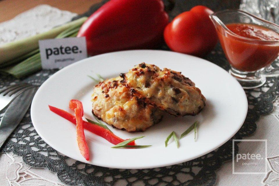 Курица с грибами и сыром, запеченная в духовке - Фото ...