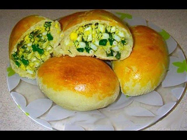 Пироги с рисом яйцом и луком