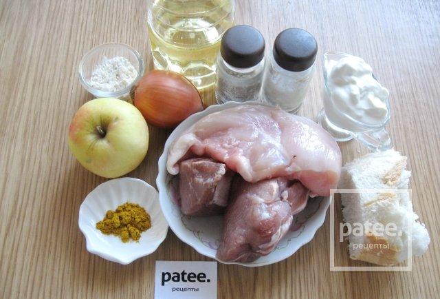 Тефтели с яблоками в сметанном соусе