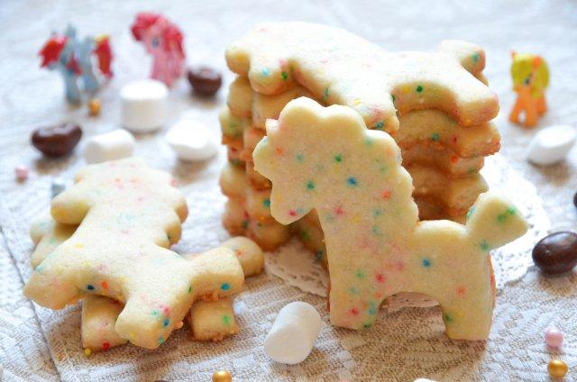 Сахарное печенье с конфетти и ароматом миндаля