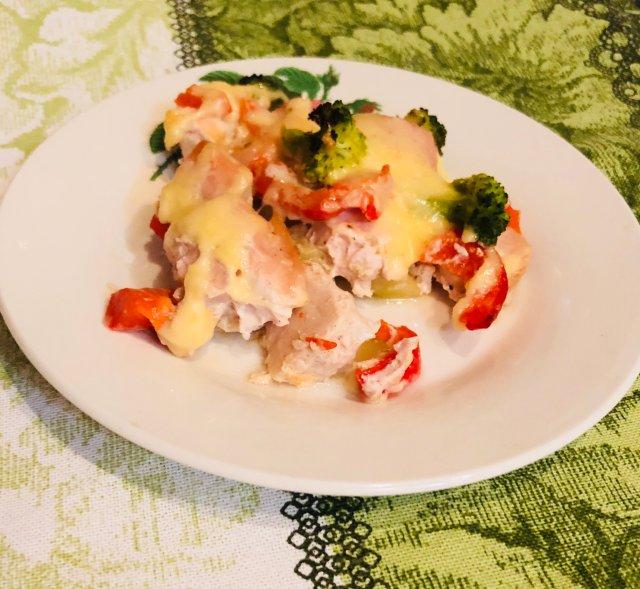 Рецепты с куриной грудкой в духовке с овощами рецепт пошаговый 7
