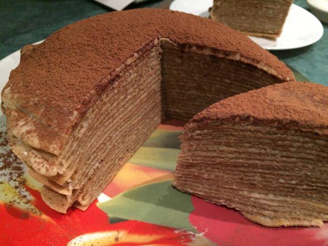 Блинный торт Тирамису