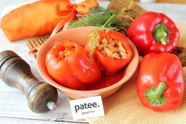 Перец фаршированный овощами