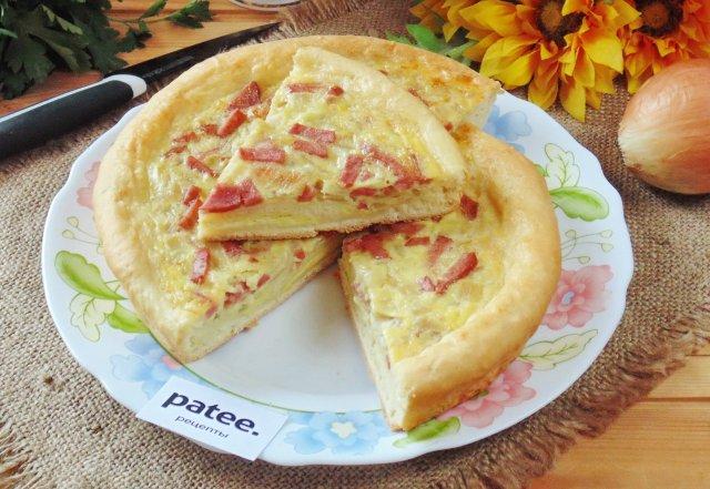Немецкий луковый пирог цвибелькухен
