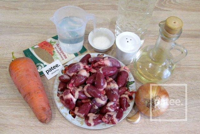 Морковь с сердечками по-корейски