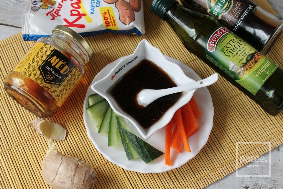 Соус с мёдом и имбирём