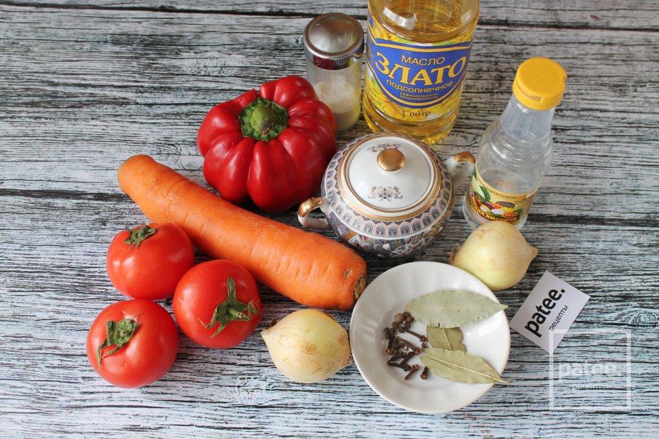 Украинский салат из помидоров и перца