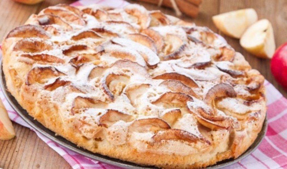 Овсяный пирог с бананами и яблоками (ПП)