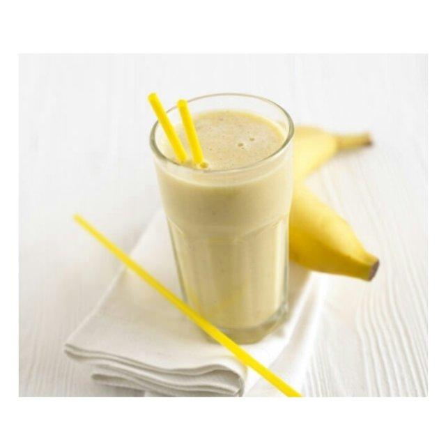 молочно банановий коктейль рецепт