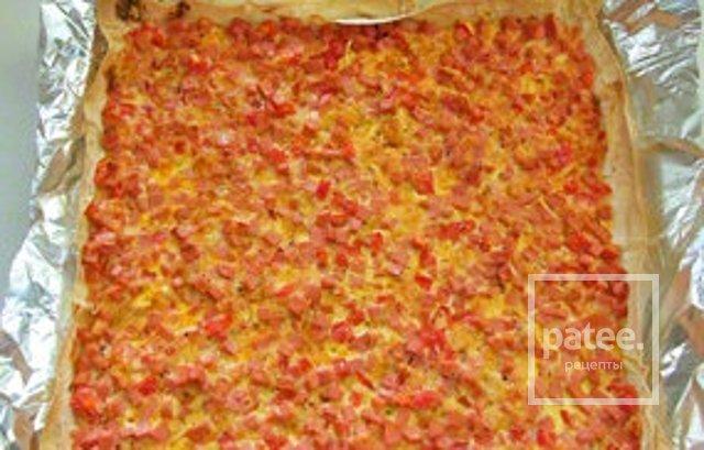 Вкусная «пицца» из лаваша