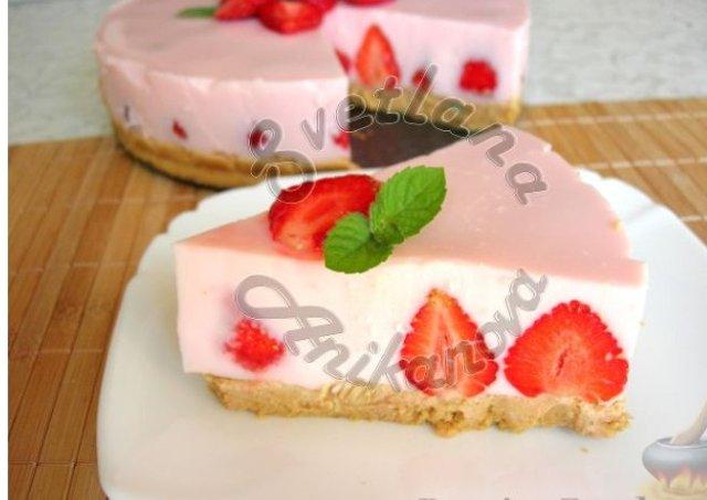 йогуртовый торт с желатином рецепт