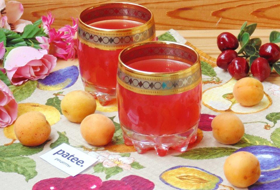 Кисель из абрикосов и вишен