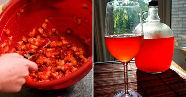 Домашнее вино из клубники