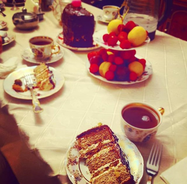 Торт Яблоко-корица-карамель