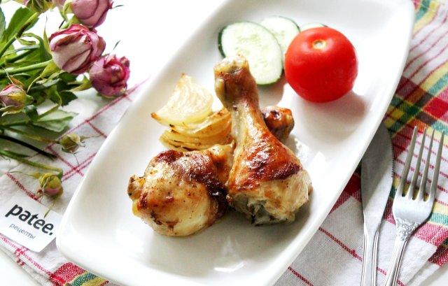 Куриные голени зажаренные в духовке