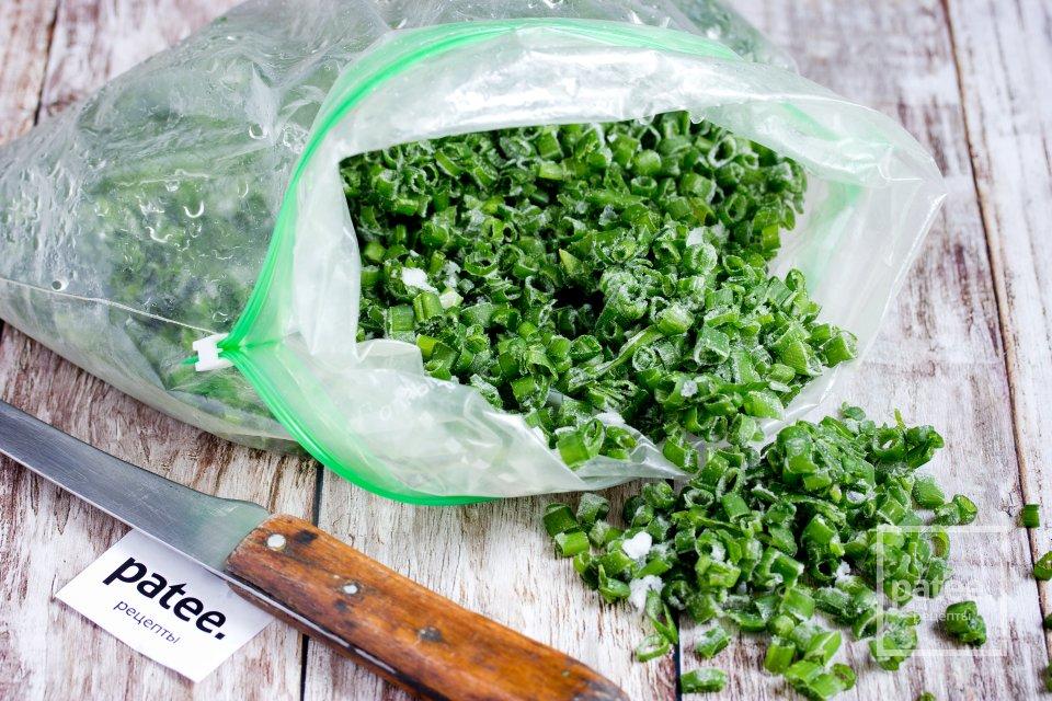 Как заморозить зелёный лук