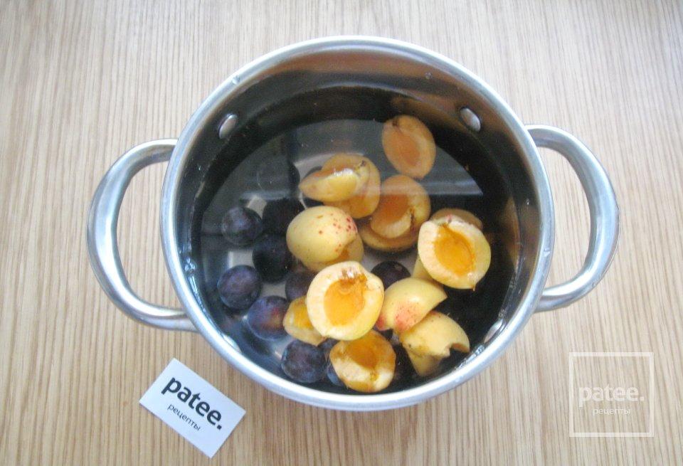 Кисель из абрикосов и терна