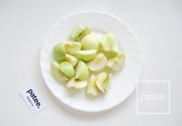Кисель из яблок и алычи