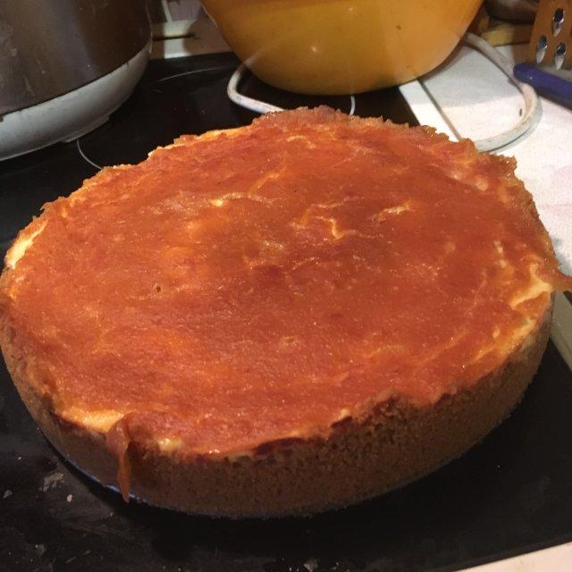 персиковый чизкейк