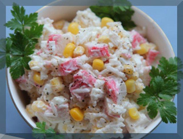 салат с крабових палочок рецепт