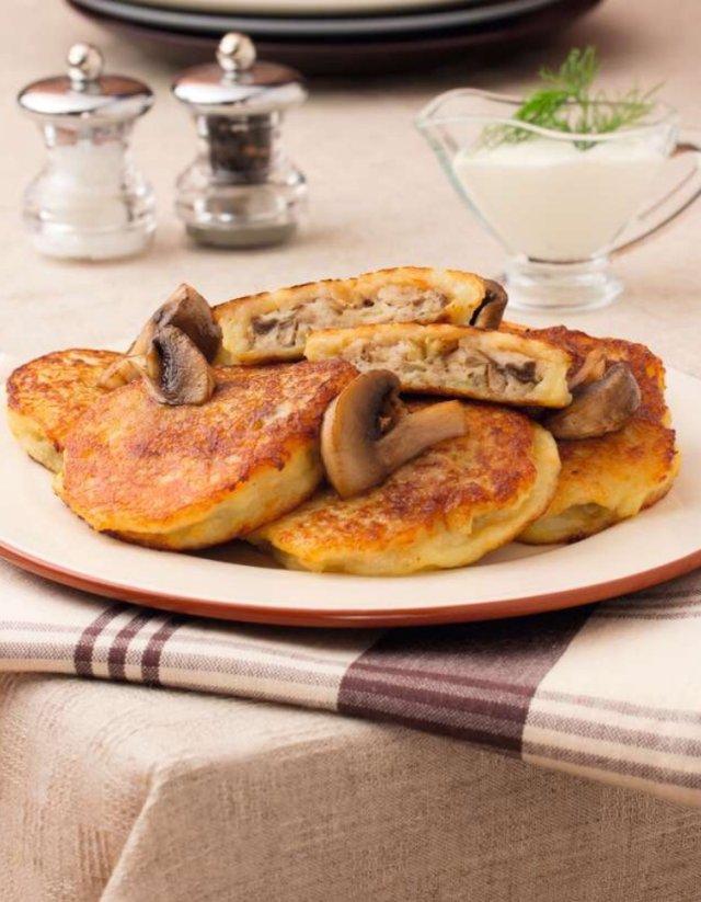 Рецепт картофельные оладьи грибами — pic 2