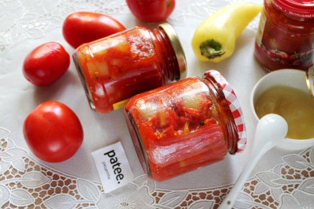Лечо из перца с помидорами и мёдом