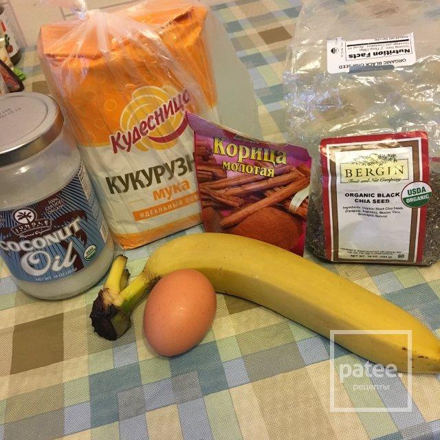 Банановые оладушки с семенами чиа