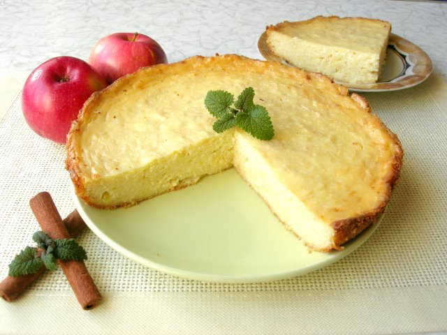 Творожная ЗАПЕКАНКА с Яблоками и БЕЗ Муки. Вкус Любимый с Детства!