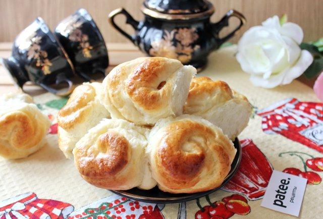 Булочки розочки с сахаром: рецепт с творогом, яблоками, булочек из дрожжевого теста