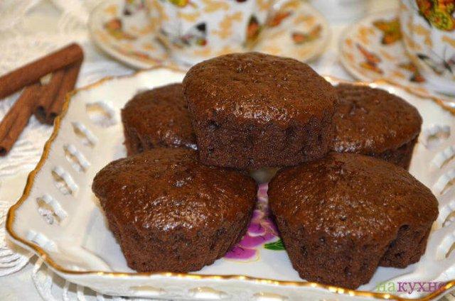 Шоколадные кексы на сметане