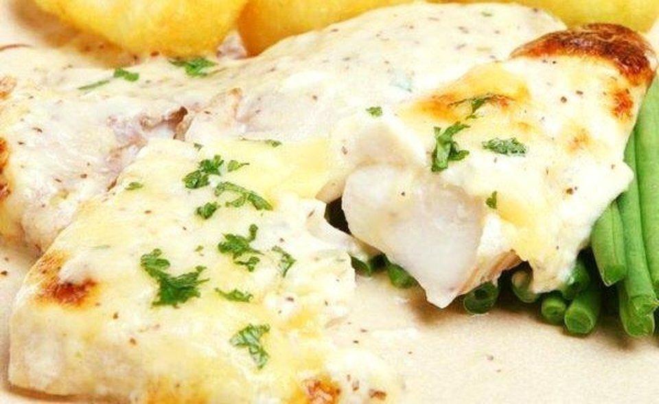 Запечённая рыба с сыром и зеленью от С Фус
