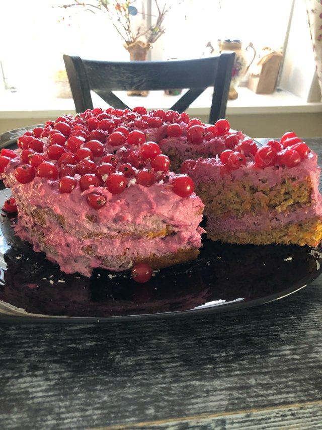 Торт без муки😃🍰 «Ягодка»