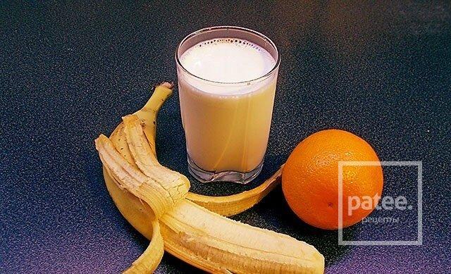 Рецепт «Бананово-молочный коктейль»