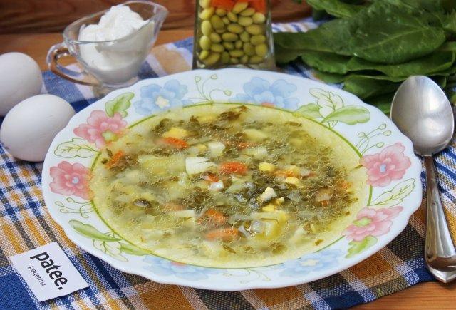 Суп из свежего щавеля